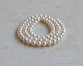 Freshwater Pearl White Round 5.5mm 35 beads 1/2 Strand high end Deluxe pearls