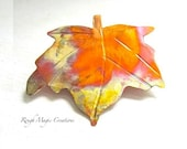Autumn Leaves, Maple Leaf Brooch, Rustic Copper Pin, Woodland Jewelry for Women, Gifts for Her, Wearable Art, Artisan Jewelry, Metalwork