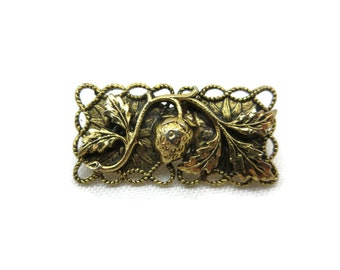 Strawberry Brooch - Brass Jewelry, Fruit, Berry, Costume Jewelry