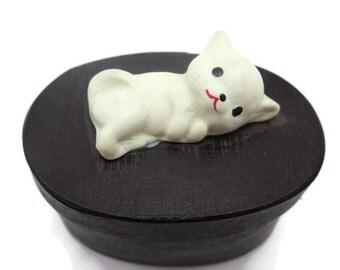 White Cat Trinket Box - Kawaii Kitten