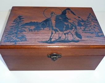 Wolf Music Box - Mountain Setting