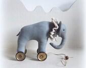 Little  elephant on vintage Meccano wheels