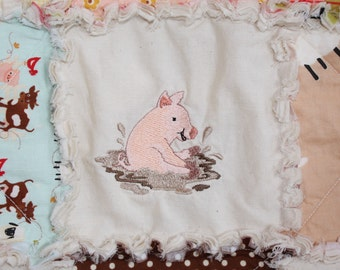 Custom Embroidery, Personalized, Embroidered, Add On, Animal, Name, Date, Quilt