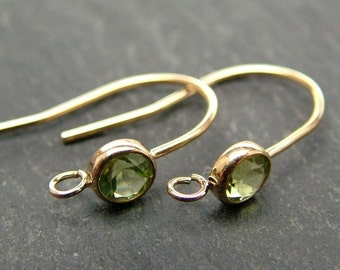 Gold Filled Peridot Ear Wire ~ PAIR (CG6592)