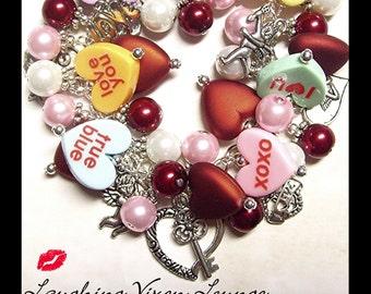 Valentine Jewelry   Valentines Day Jewelry   Valentine Bracelet   Valentines  Day Bracelet   Valentine Necklace