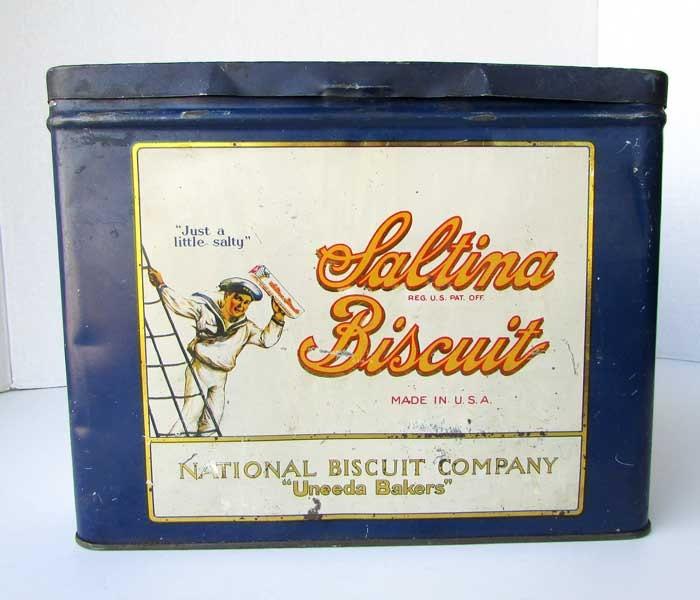 Vintage 1920 Saltina Biscuit Uneeda Bakers Lithographed