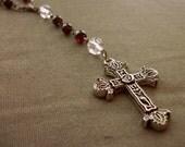 MAARKED DOWN Garnet Five Decade Rosary