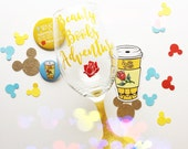 Beauty. Books. Adventure. /// Belle - Beauty and The Beast /// Wine Glass