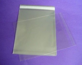 50 10 x 13 Clear Resealable Cello Bag Plastic Envelopes Cellophane Bag