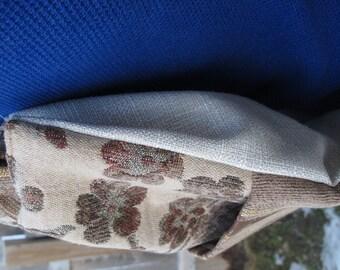 Cinch Sack - BackPack - Drawstring Bag - Upcycled Materials - floral & stripe