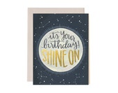 It's Your Birthday! Shine On Illustrated Card//1canoe2