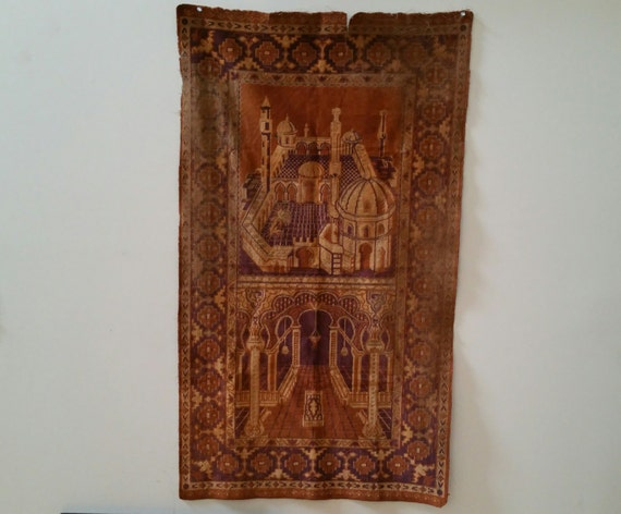 Vintage Hand Woven Middle Eastern Wall Tapestry Table Runner