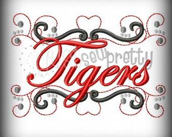 Tigers Pride Embroidery Design