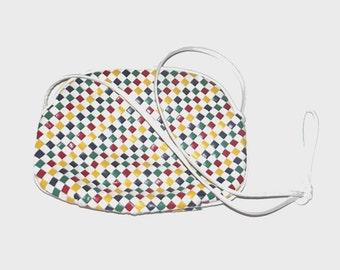 1980s purse / vintage 80s purse / braided / Rainbow Braided Purse