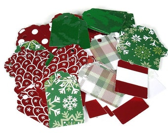100 Tags Gift Tags Price Tags  Bulk Package  in Holiday Mix
