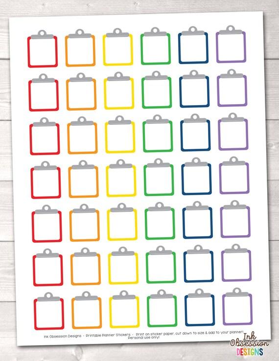 Clipboard Printable Planner Sticker PDF Functional Sticker ...