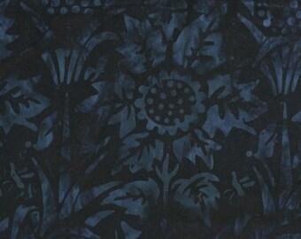 NEW - One yard - Blue Sunflower Batik - 9070