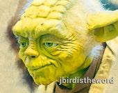 8x10 Yoda Print - Star Wars Poster-Star Wars Yoda Poster - Yoda Artwork-Yoda Art for Boys Room-Yoda Poster for Fan - Yoda Picture - Yoda Fan