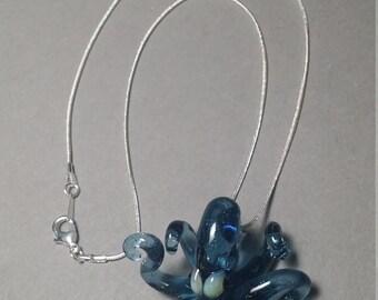 Blue Lagoon Octopus Pendant