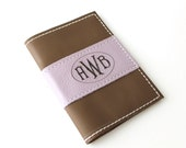 Bridal Party Gift - Monogrammed Passport Cover - Bridal Party - Genuine Leather