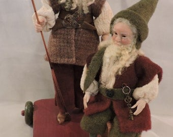 Folk Art Christmas Elves by Bonnie Jones
