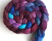 Merino/ Superwash Merino/ Silk Roving (Top) - Handpainted Spinning or Felting Fiber, Plush Velvet