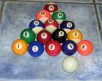 Vintage Pool Ball Balls Vintage Billiard Ball Balls
