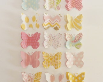 Torno - decorative push pins / thumb tack or memo clips - large paper butterflies - made to order