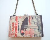 Alice In Wonderland - Book Purse - reserved for Wade