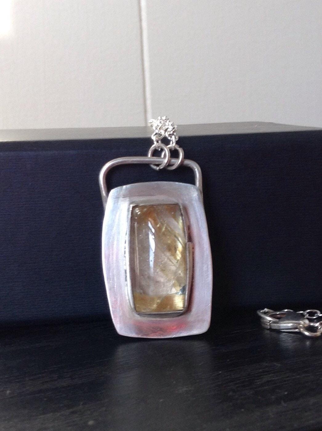 Golden Rutilated Quartz Jewelry Of Gold Rutilated Quartz Necklace Golden Rutilated Quartz