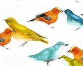 1 yard Michael Miller Fabric Birds by Laura Gunn Flutter