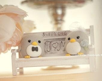 penguin  cake topper -----Special Edition,penguin wedding cake topper
