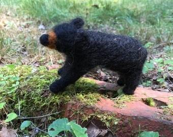 Wool Felt Black Bear