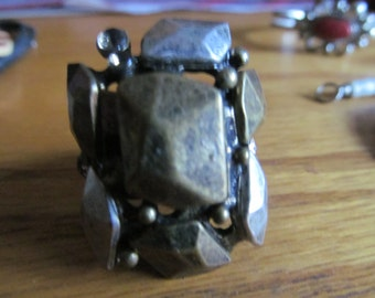 stone collage stretchy ring
