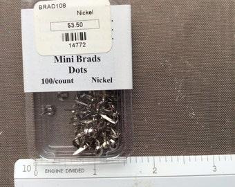 Mini  round brads (Nickel)