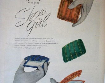 COS-139  Ziegfeld Girl Compacts Ad  -  1946