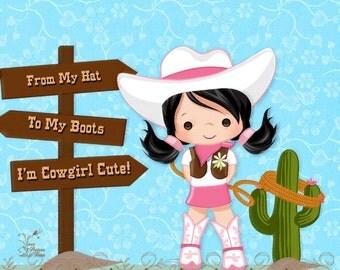 Artwork Print - Cowgirl Cute