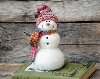 Needle Felted Snowman | Christmas decoration  748