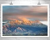 Mountain Photography, Landscape Print, Winter Art, Tucson, Mountain Art, Wrightson, Santa Rita Mountains, Tubac, Southern Arizona