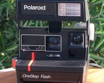Vintage Polaroid One Step Flash 600 Film Camera Working