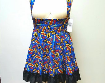READY to Ship- Pow Jumpers Comic Book Dress- Geek Fashion - Cosplay Adult Halloween- M, L, 2XL