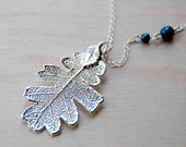 Medium Fallen Real Silver Oak Leaf Necklace | Electroformed Oak Leaf Charm Necklace | REAL Oak Leaf | Nature Jewelry