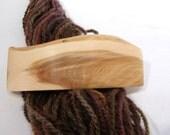Large Wood Hair Barrette, Oregon Juniper, french clip, lifetime guarantee, NO GLUE, long thick natural hair, stocking stuffer women