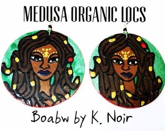 Medusa Organic Locs Earrings