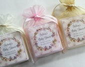 Baby  shower favors, party favors,  Bridal Shower, Tea Party soap favors,  set of 10
