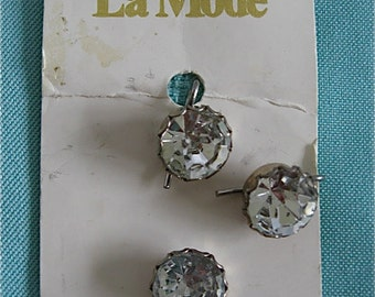 Vintage Crystal Buttons