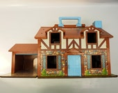 Vintage Fisher Price Little People Tudor style house - 1969