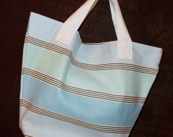 Bag/Purse-13 x 9 inch-the Little Sis Bag --Clearly Beach, blues and gray