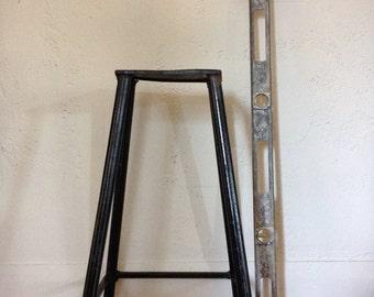 Vintage Industrial Solid Iron Primitive Welder's Stool