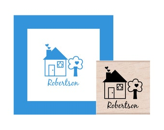 House Warming Personalized Rubber Stamp